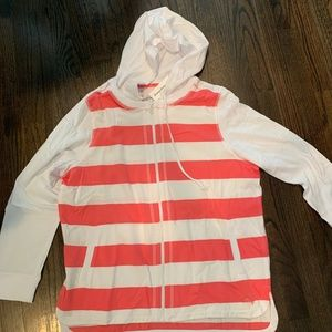Tommy Bahama Womens Stripe Full Zip Sweatshirt